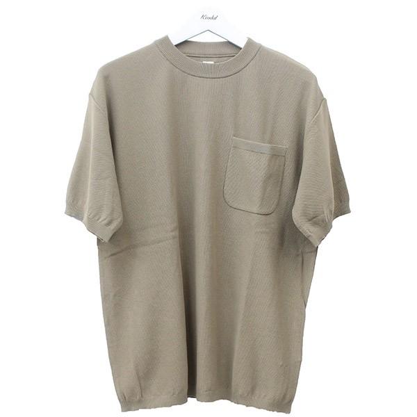 【中古】KAPTAIN SUNSHINE 2019SS pocket knit tee ポケットニットTシャツ ベージュ サイズ:36 【050620】(キャプテンサンシャイン)