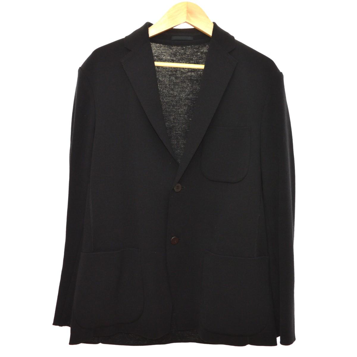【中古】ISSEY MIYAKE MEN 19SS シングルニットジャケット ブラック サイズ:2 【060620】(イッセイミヤケ メン)