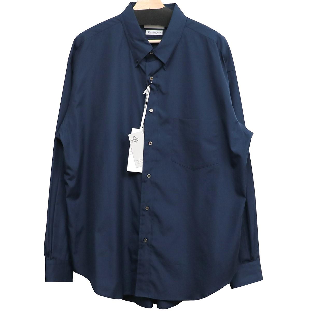 【中古】Graphpaper×THOMAS MASON 19AW B.D Box Shirtボタンダウンオーバーシャツ ネイビー サイズ:3 【060620】(グラフペーパー トーマスメイソン)