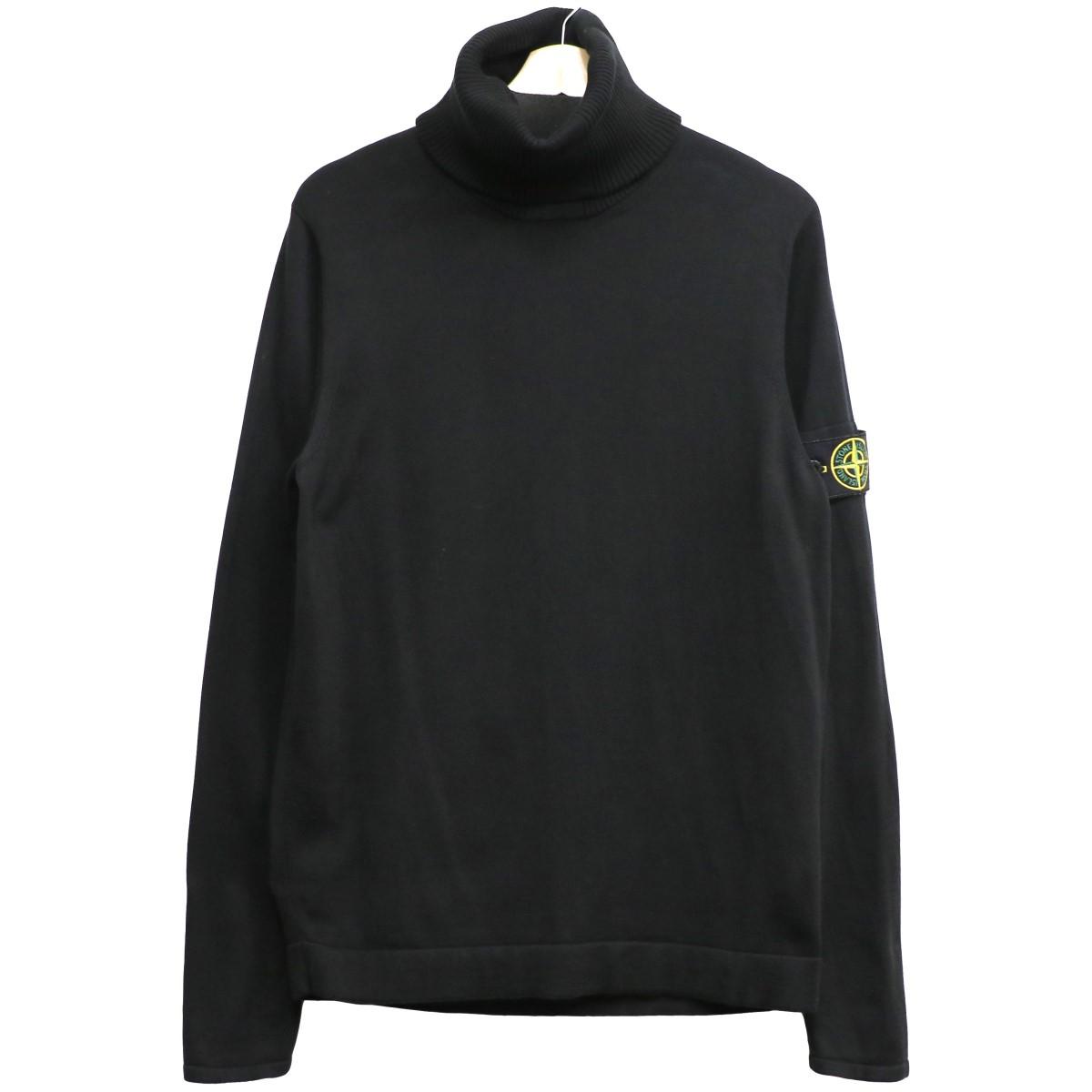 【中古】STONE ISLAND SHADOW PROJECT 19AW Turtleneck Sweaterタートルネックコットンニットセーター ブラック サイズ:M 【060620】(ストーンアイランドシャドウプロジェクト)