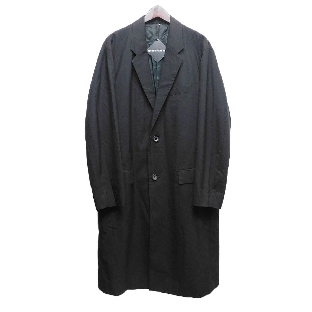 【中古】ISSEY MIYAKE 19SS チェスターコート ブラック サイズ:3 【070620】(イッセイミヤケ)