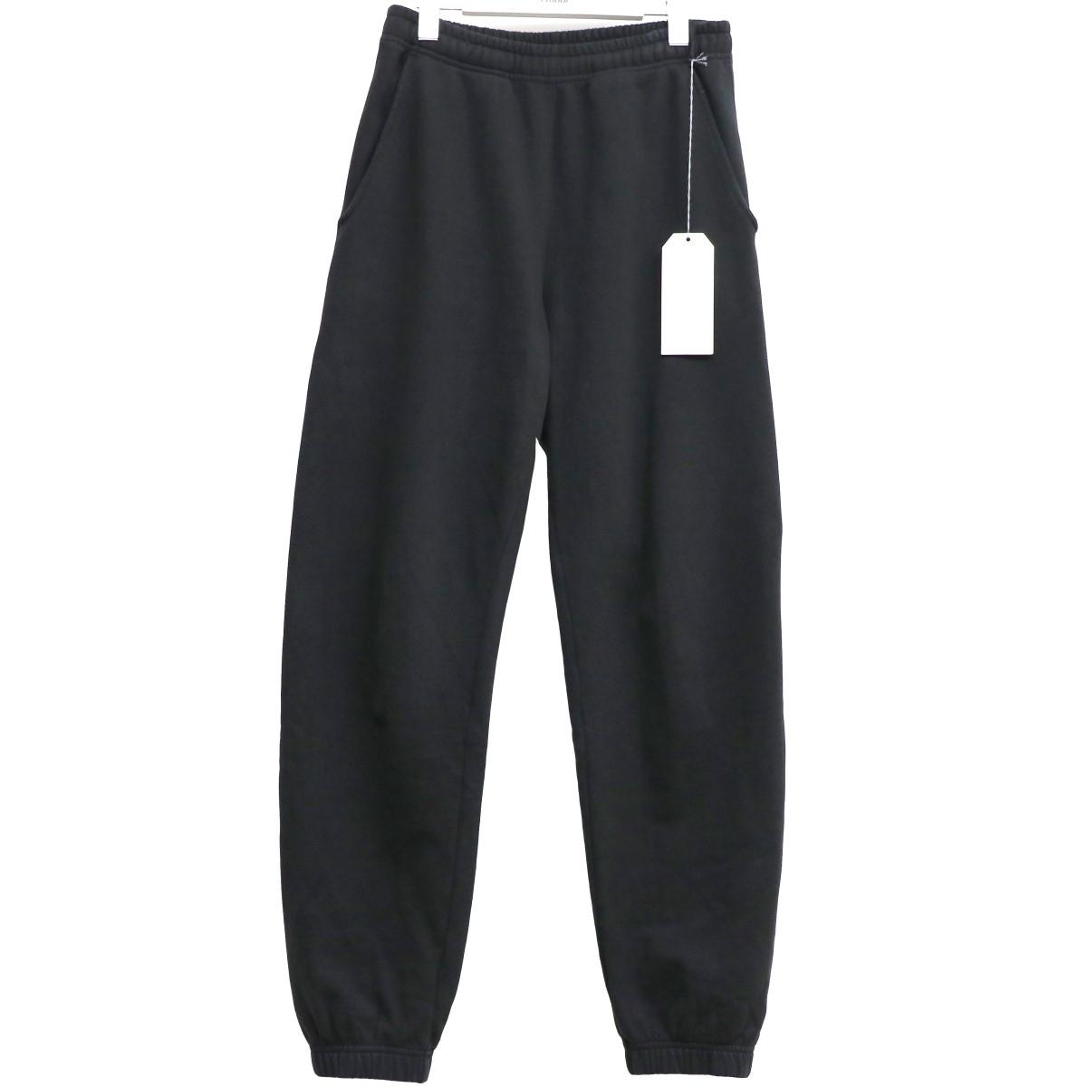 【中古】UNUSED 20SS UW0886 Sweat Pantsリブスウェットイージーパンツ ブラック サイズ:1(~94cm) 【070620】(アンユーズド)