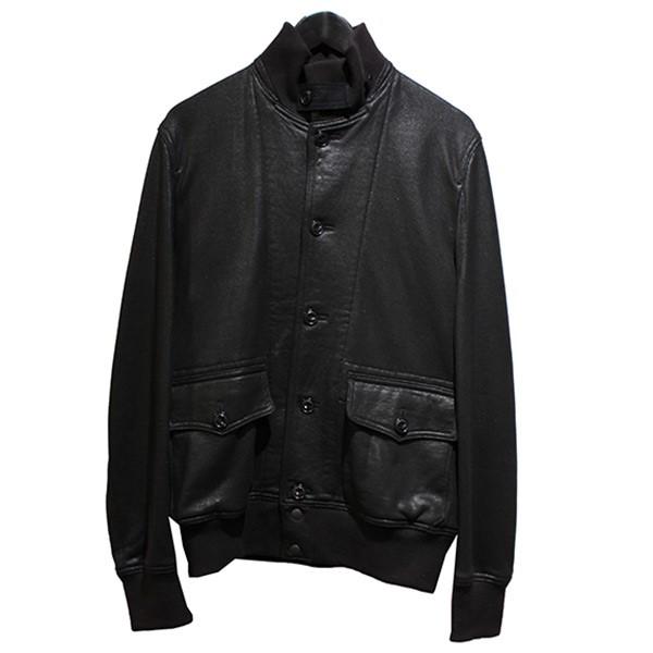 【中古】eye JUNYA WATANABE CdG MAN 10AW コーティングジャケット スウェットブルゾン ブラック サイズ:M 【070620】(アイジュンヤワタナベコムデギャルソンマン)