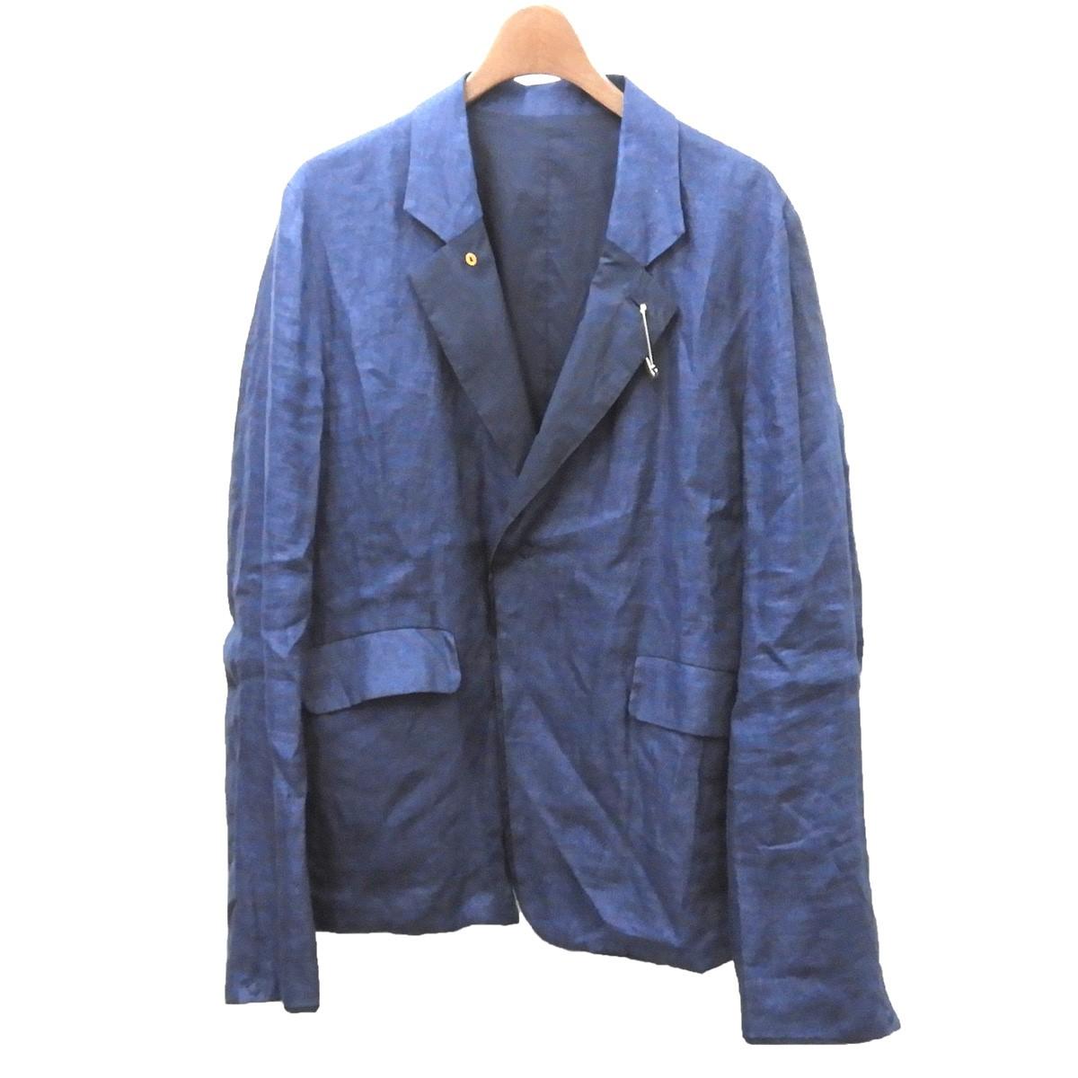 【中古】SUNSEA 2016SS 「Spec Reversible Linen Jacket」リネンジャケット ネイビー サイズ:2 【090620】(サンシー)
