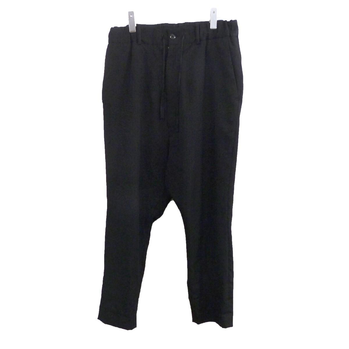 【中古】YOHJI YAMAMOTO pour homme ギャバジンウールイージーワイドパンツ ブラック サイズ:2 【090620】(ヨウジヤマモトプールオム)