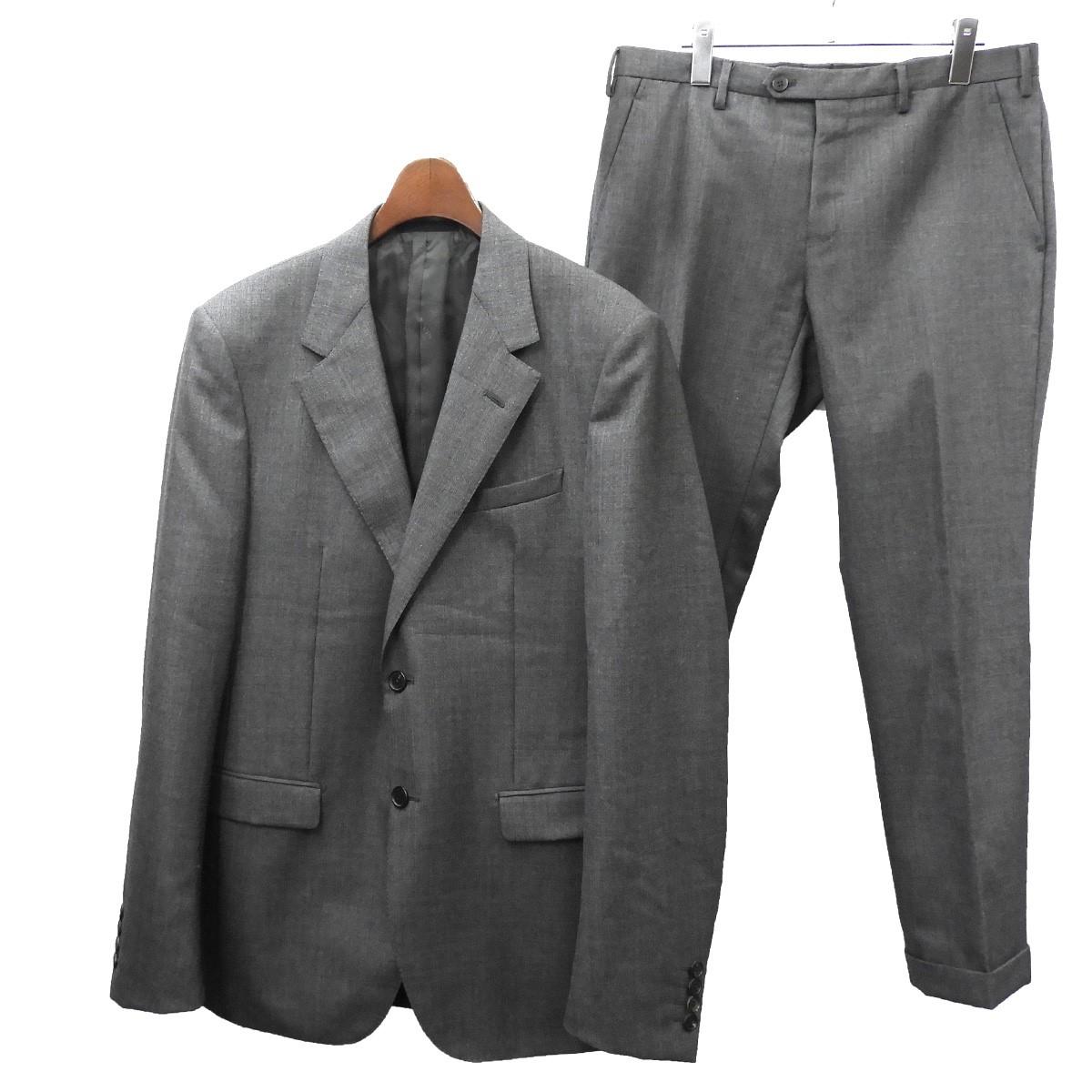 【中古】LANVIN セットアップスーツ グレー サイズ:48/48 【110620】(ランバン)