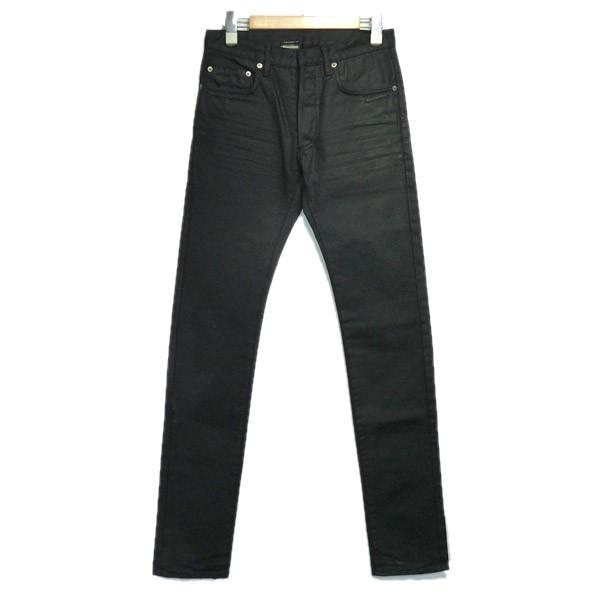 【中古】Dior Homme 2007SS コーティング加工デニムパンツ ブラック サイズ:27 【110620】(ディオールオム)