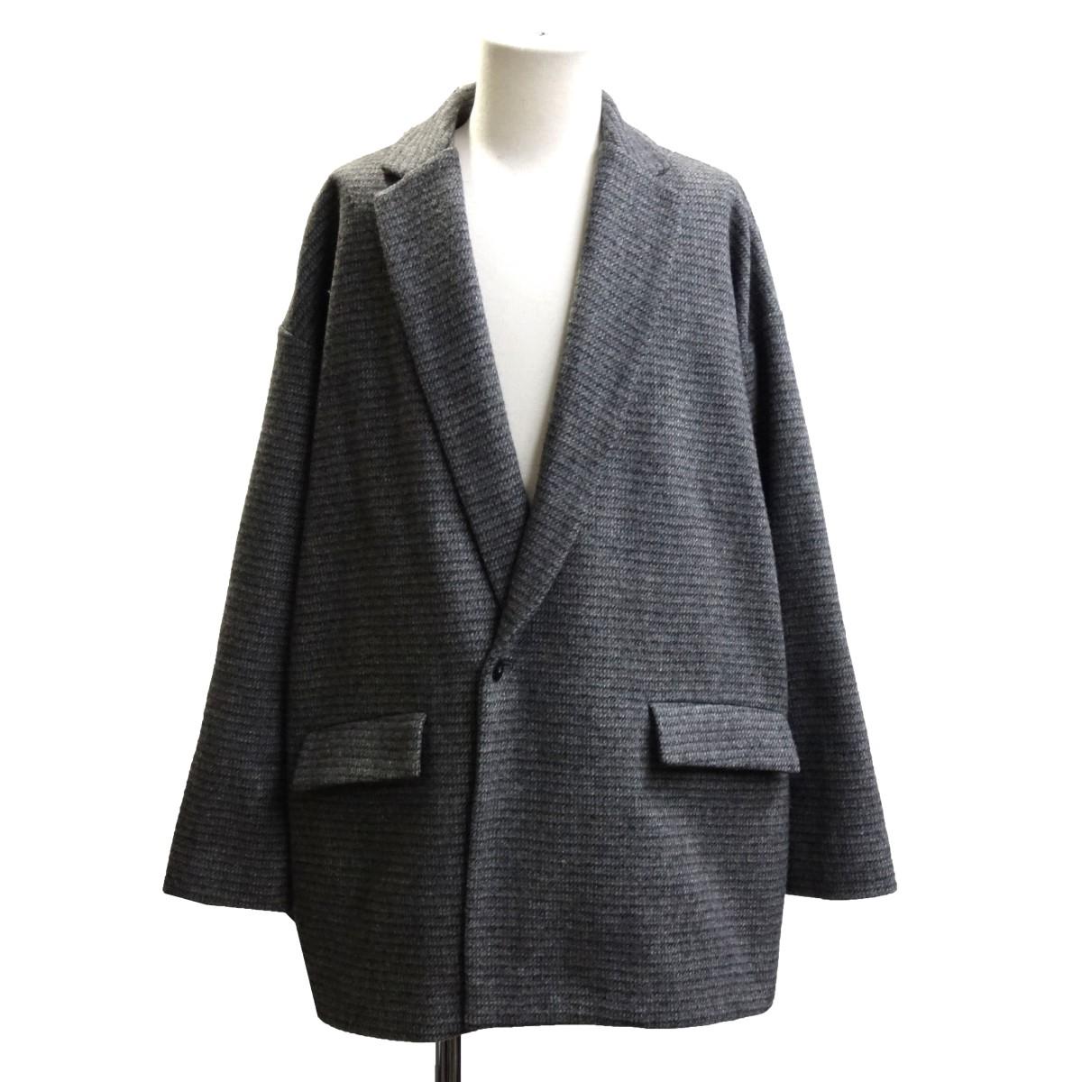 【中古】Dulcamara ×乱痴気19AW「glen check double jacket」 グレンチェックダブルジャケット グレー サイズ:1 【110620】(ドゥルカマラ)