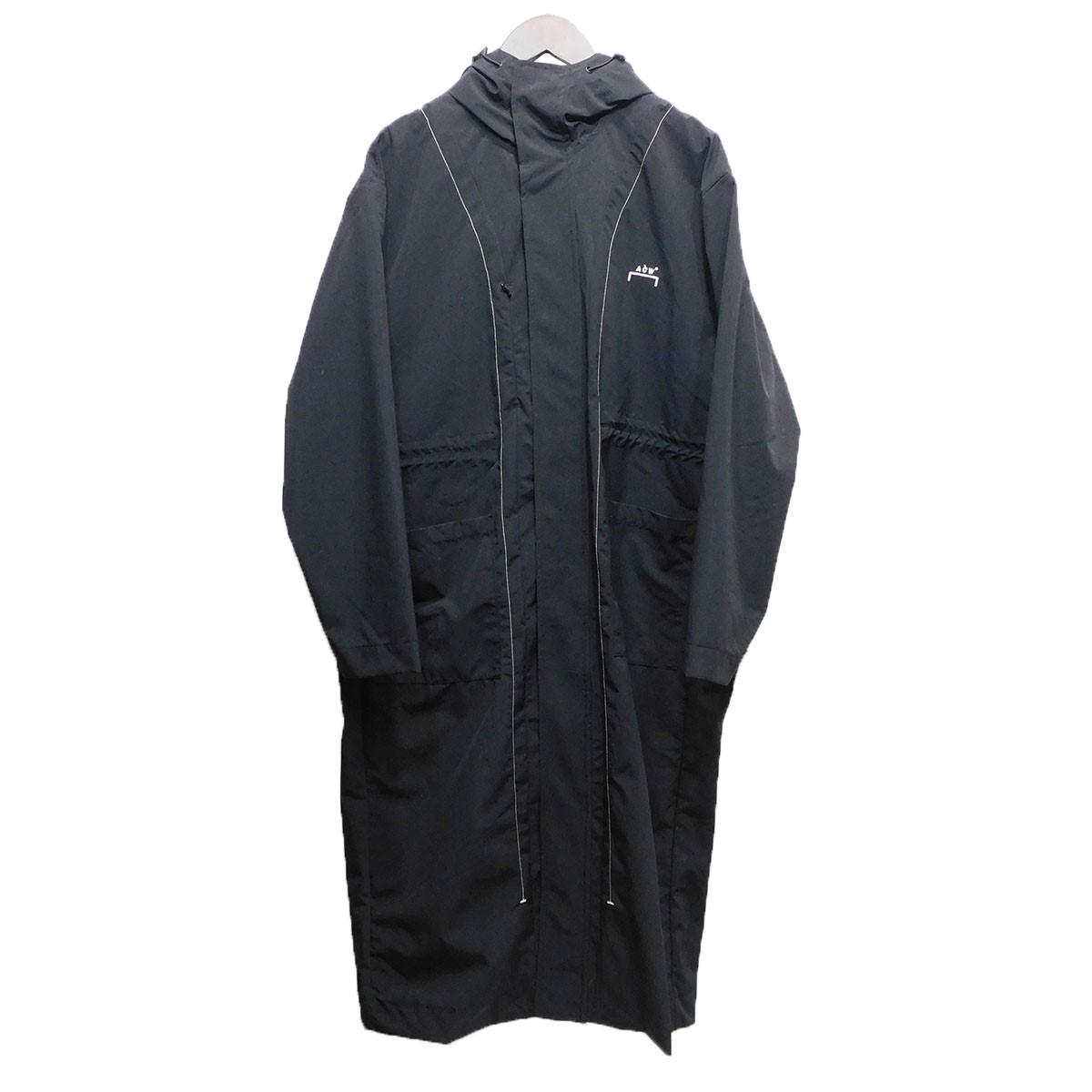 【中古】A-COLD-WALL 20SS ナイロンフーデッドコート ブラック サイズ:M 【110620】(アコールドウォール)