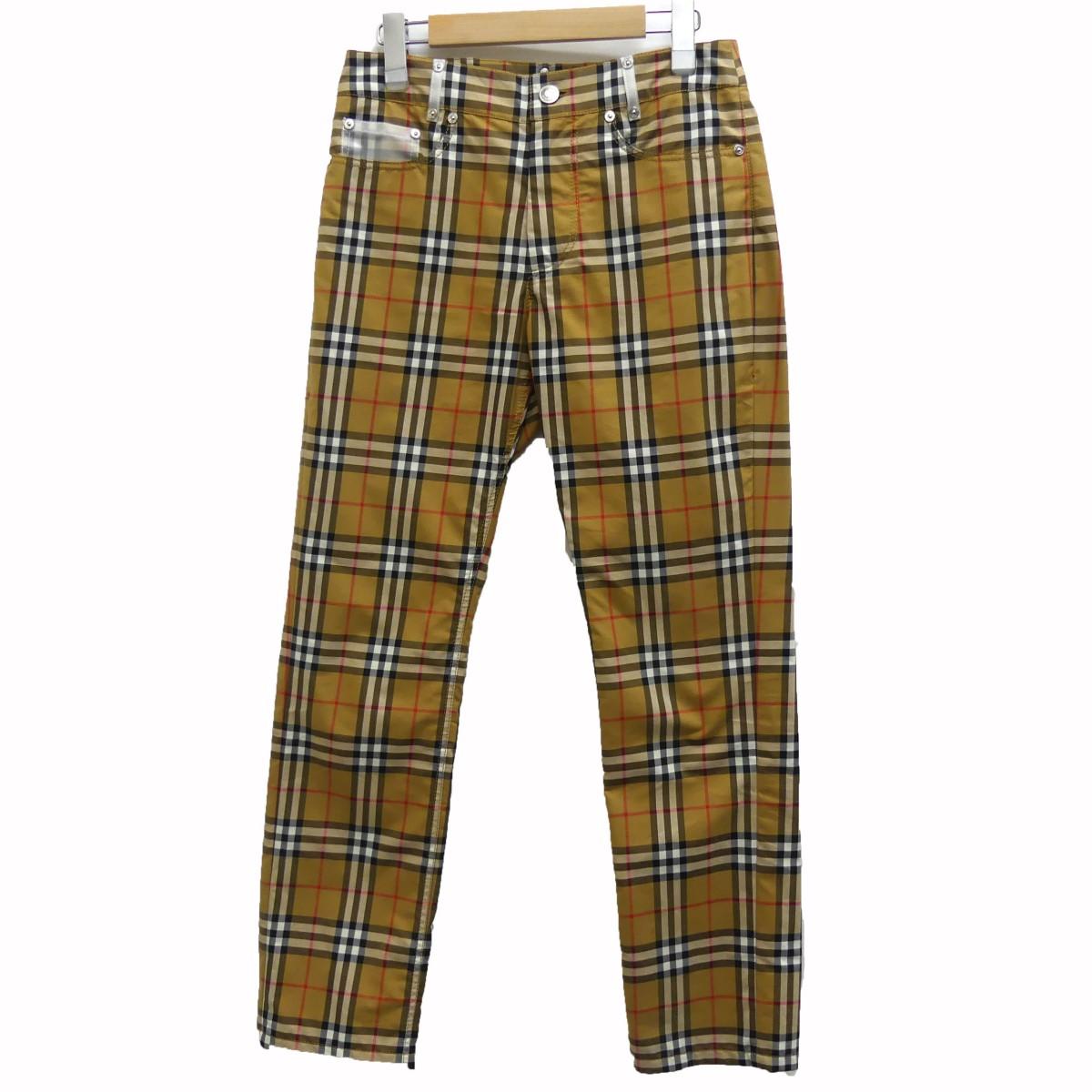 【中古】BURBERRY ×Vivienne Westwood 19SS チェックパンツ ブラウン サイズ:38 【120620】(バーバリー)