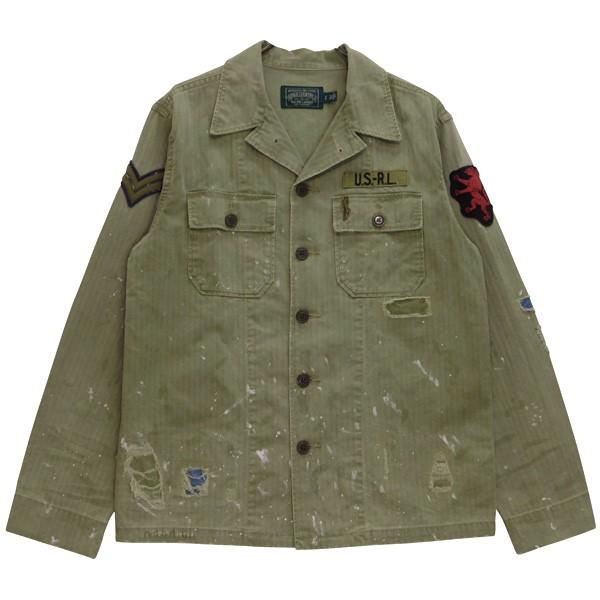 【中古】POLO COUNTRY US.ARMY HBT SHIRTS JKT ミリタリージャケット オリーブ サイズ:S 【120620】(ポロカントリー)