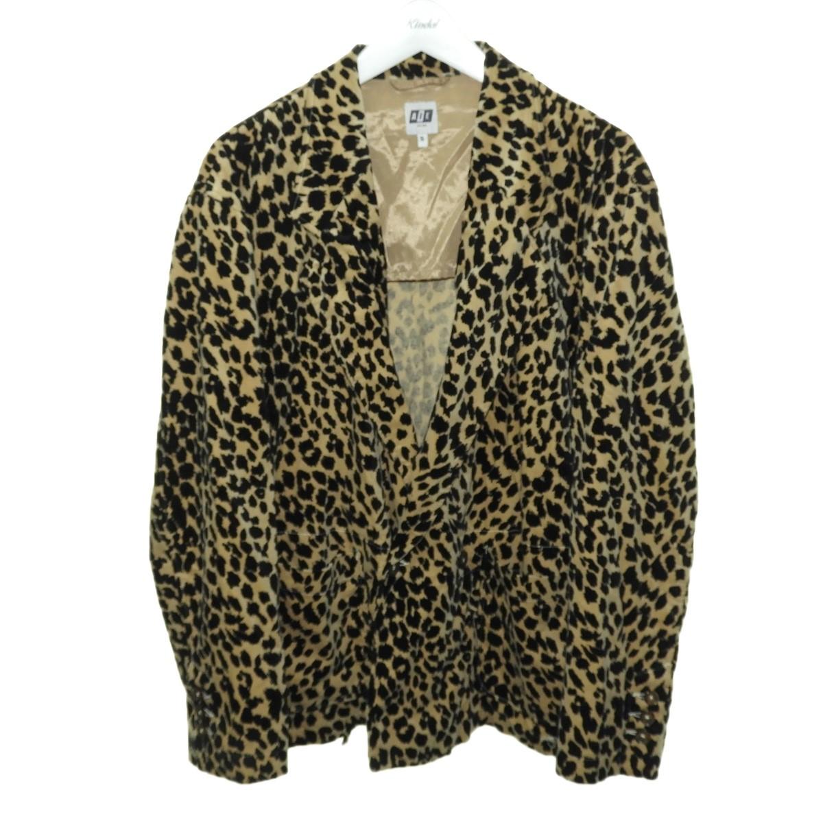【中古】AiE 2019AW「EZ JACKET-Leopard Velveteen」レオパードテーラードジャケット ベージュ×ブラック サイズ:S 【140620】(エーアイイー)
