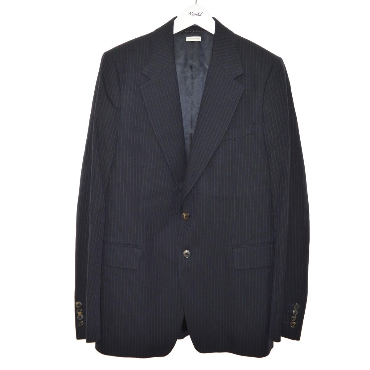 【中古】DRIES VAN NOTEN ピンストライプ2Bテーラードジャケット ネイビー サイズ:50 【140620】(ドリスヴァンノッテン)