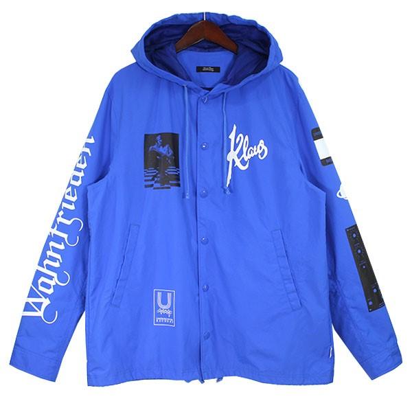 【中古】UNDERCOVER 15AW フーデッドコーチジャケット ブルー サイズ:3 【130620】(アンダーカバー)