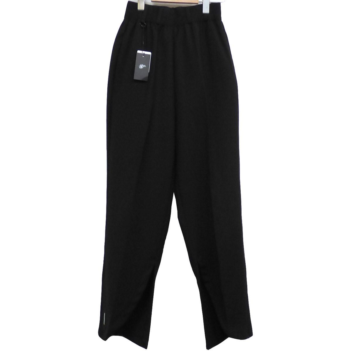 【中古】SYU. HOMME/FEMM 19AW Front Slit Pants裾ジップスリットイージースラックスパンツ ブラック サイズ:1(~95cm) 【150620】(シュウオムフェム)