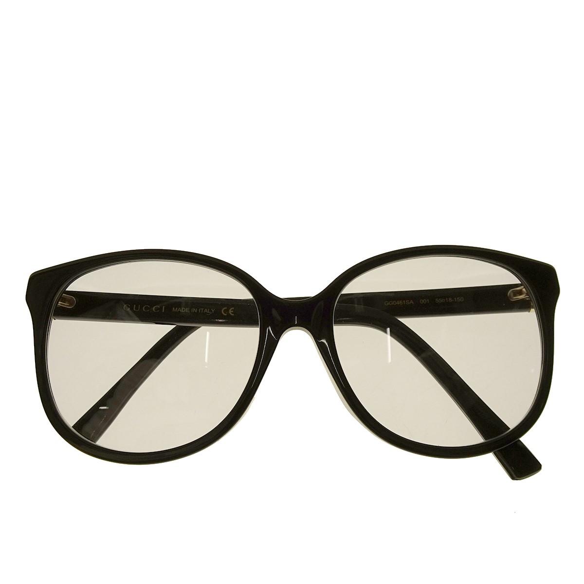 【中古】GUCCI サングラス GG-0461SA アジアンフィットモデル ブラック サイズ:55□18-150 【170620】(グッチ)