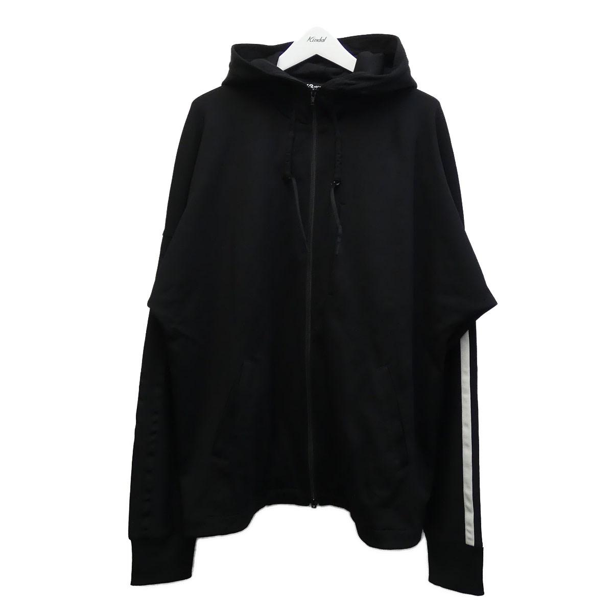 【税込】 【】Y-3 「3-STRIPES HOODIE」袖ラインジップアップパーカー ブラック サイズ:XL 【200620】(ワイスリー), キャンペーン365 d2882b2e