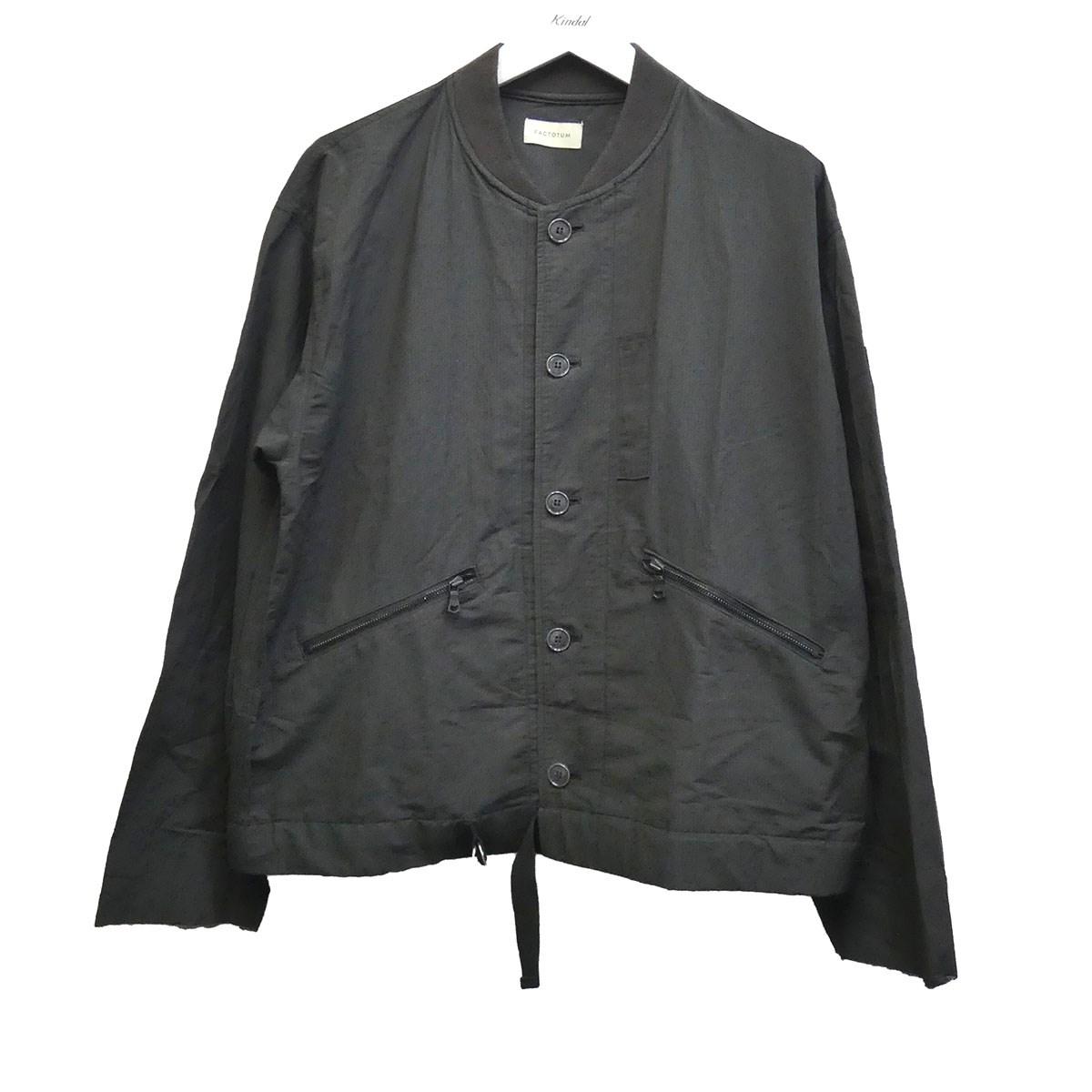 【中古】FACTOTUM リップストップブリティッシュRAFコンバットジャケット ブラック サイズ:46 【200620】(ファクトタム)