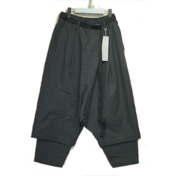 【中古】prasthana 2020SS「残響 belted wide trousers」ワイドトラウザーパンツ グレー サイズ:1(M) 【210620】(プラスターナ)