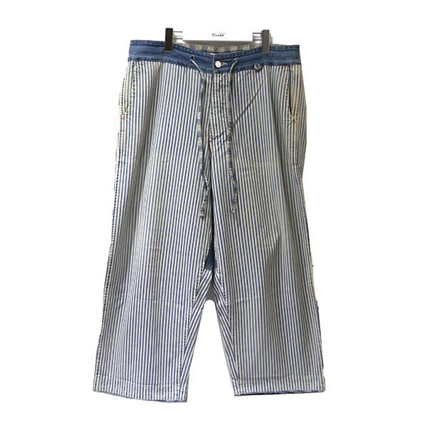 【中古】Porter ClassicKENDO PANTS デニムパンツ インディゴ×ホワイト サイズ:L 【8月13日見直し】