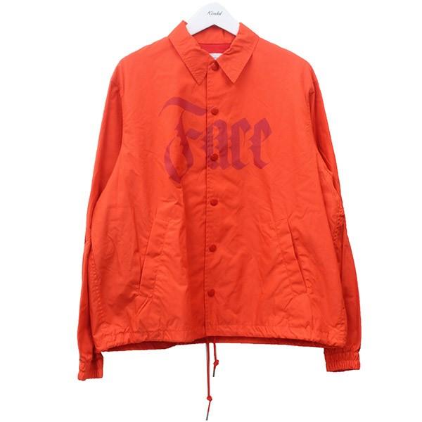 【中古】FACETASM RIB COACH JACKET リブコーチジャケット オレンジ サイズ:L 【220620】(ファセッタズム)