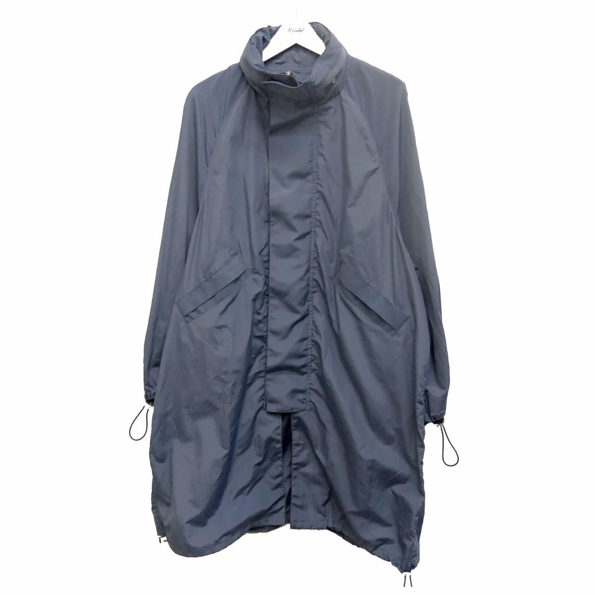 【中古】name. 20SS ナイロンタッサービッグシルエットフーデッドコート ブルー サイズ:1 【240620】(ネーム)