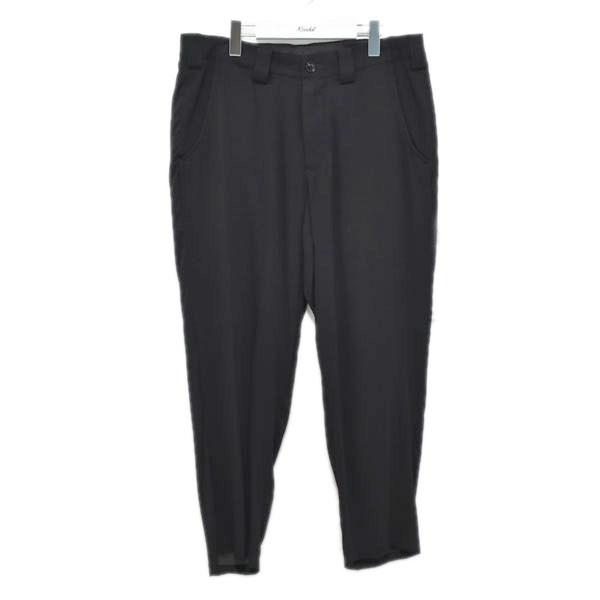 【中古】YOHJI YAMAMOTO pour homme Rayon Loan Slim Cropped Pants パンツ ブラック サイズ:3 【250620】(ヨウジヤマモトプールオム)