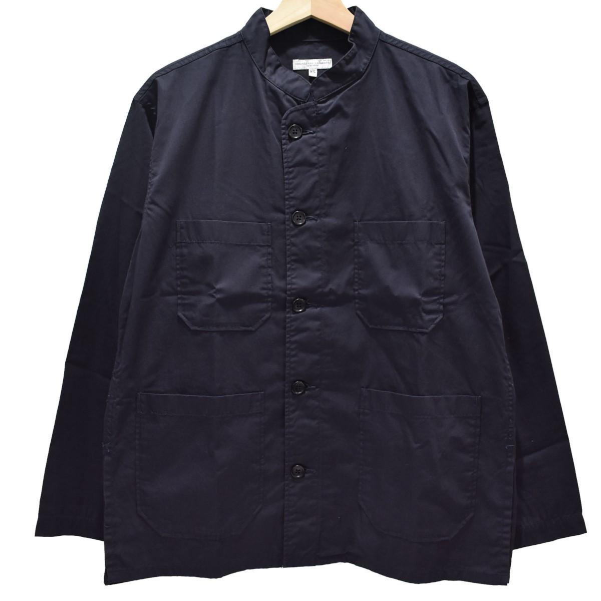 【中古】Engineered Garments Dayton Shirt High Count Twill バンドカラージャケット ネイビー サイズ:XS 【240620】(エンジニアードガーメンツ)