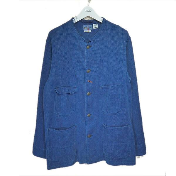 【中古】BLUE BLUE かせ染め刺し子織りレイルロードマンジャケット インディゴ サイズ:3 【250620】(ブルーブルー)