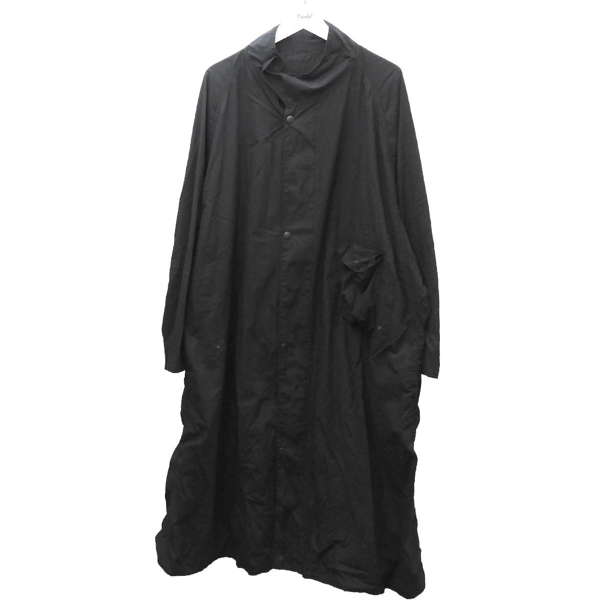 【中古】UNUSED 「Cotton GAS CAPE」コットンロングコート ブラック サイズ:3 【260620】(アンユーズド)
