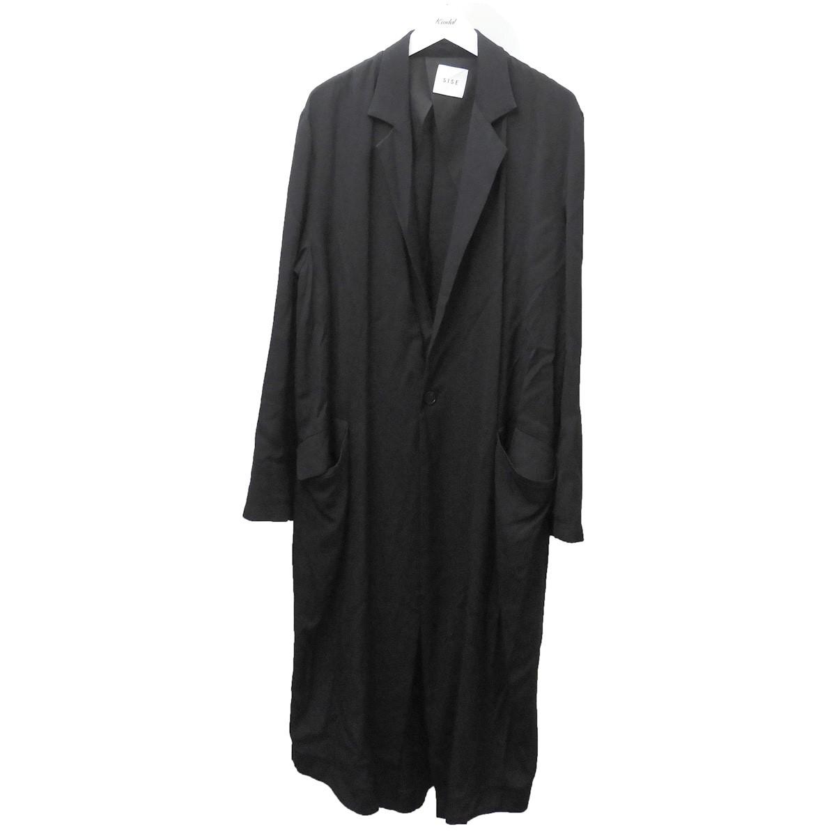 【中古】Sise 2019SS ロングコート ブラック サイズ:1 【260620】(シセ)