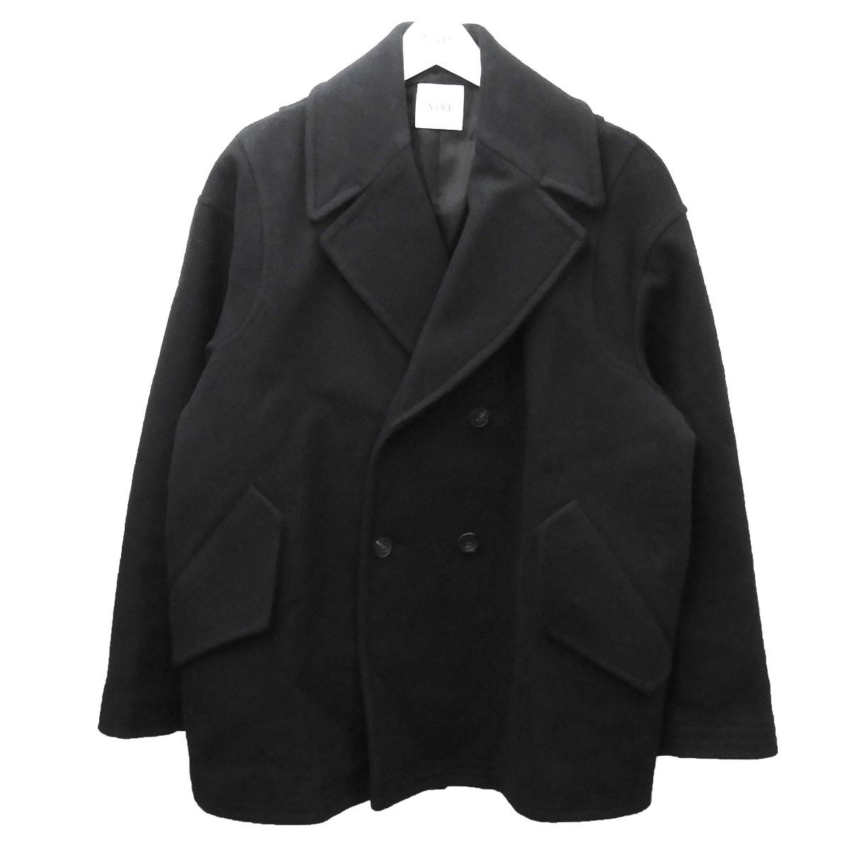 【中古】Sise 2017AW Pコート ブラック サイズ:1 【260620】(シセ)
