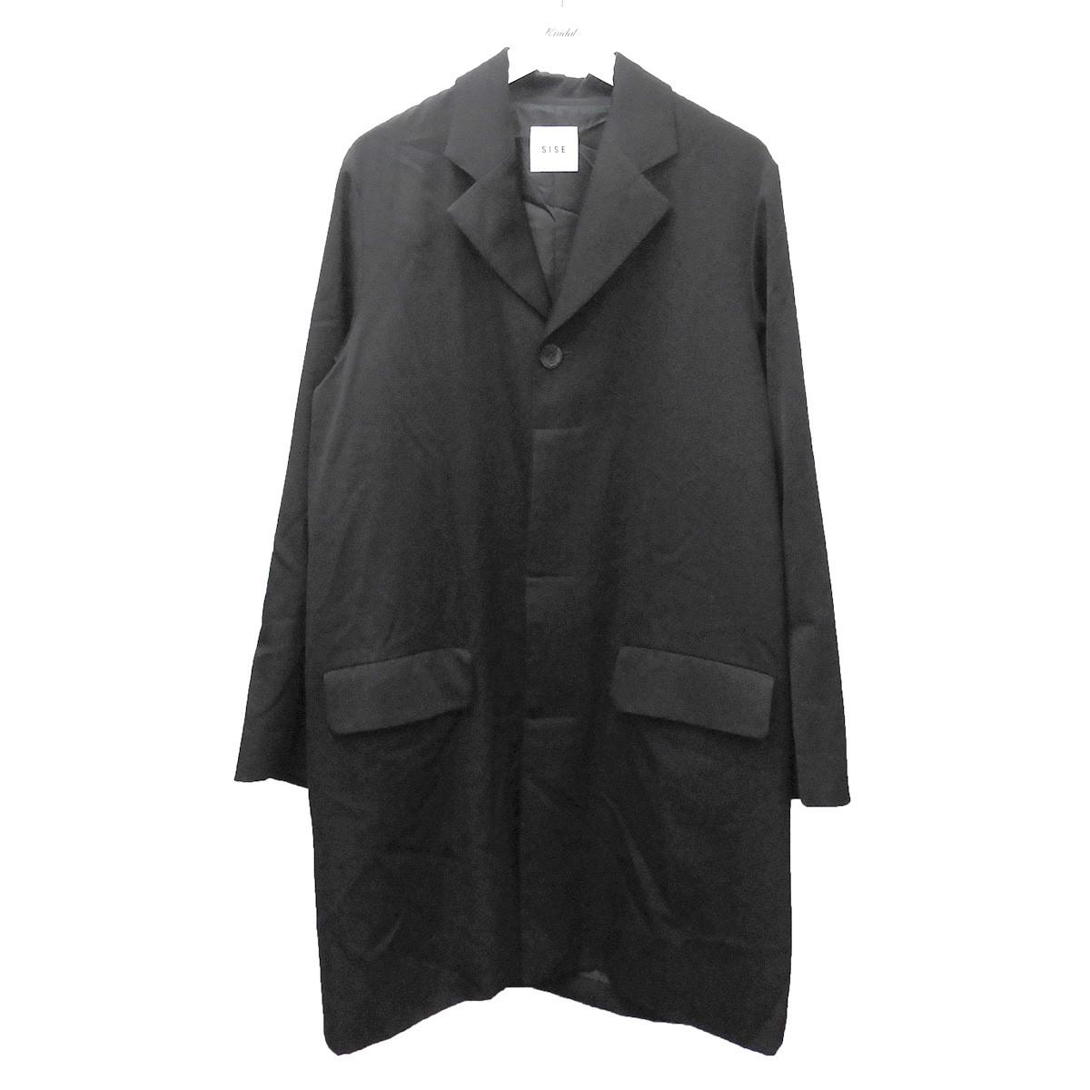 【中古】Sise 2018AW タキシードコート ブラック サイズ:0 【260620】(シセ)