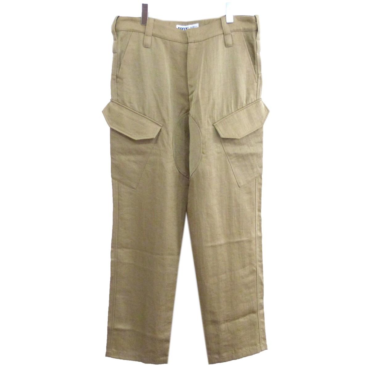 【中古】AFFIX 19SS「NYLON SERVICE PANTS」ナイロンサービスパンツ ベージュ サイズ:34 【260620】(アフィックス)