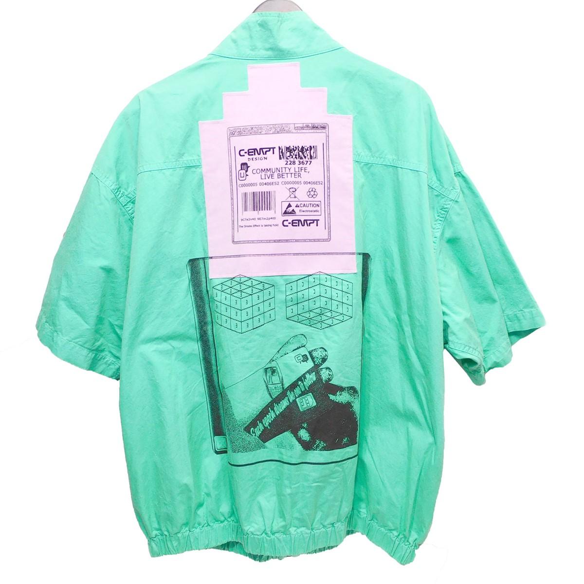 【中古】C.E 19SS 「SHORT SLEEVE JACKET」 ショートスリーブジャケット エメラルドグリーン サイズ:L 【250620】(シーイー)