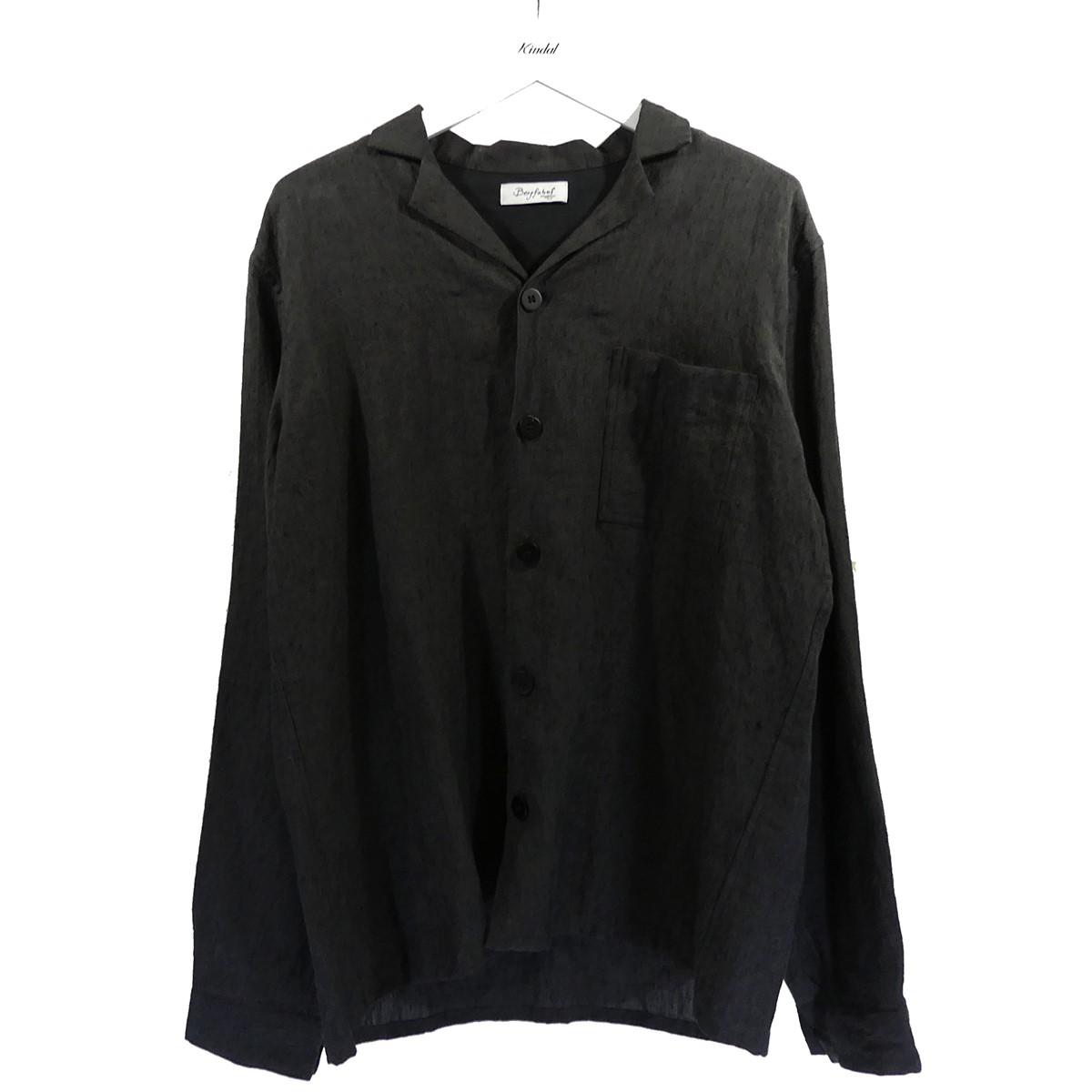 【中古】Bergfabel SHIRT WITH REVERSE シャツジャケット チャコールグレー サイズ:48 【270620】(バーグファベル)