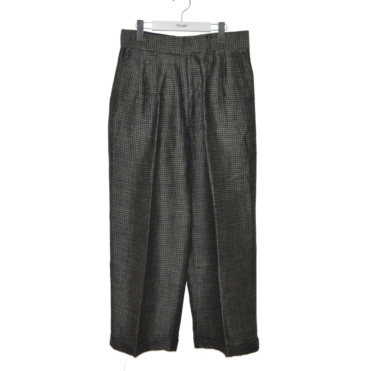 【中古】LITTLEBIG 18SS Houndstooth 2-Tuck Trousers スラックス グレー サイズ:2 【270620】(リトルビッグ)