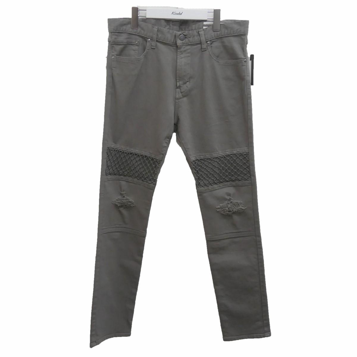 【中古】JOINTRUST SLIM NET DENIM PANTS スリムネットデニムパンツ グレー サイズ:2 【270620】(ジョイントラスト)
