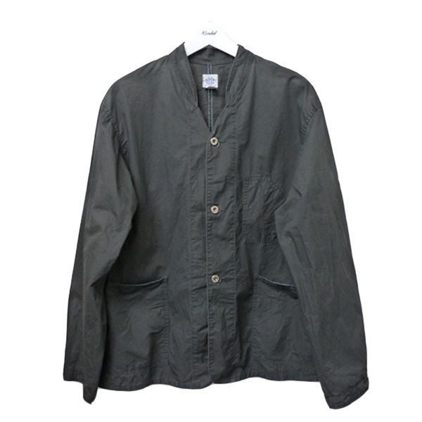 【中古】POST O'ALLS バナナカラーカバーオールジャケット チャコールグレー サイズ:L 【260620】(ポストオーバーオールズ)