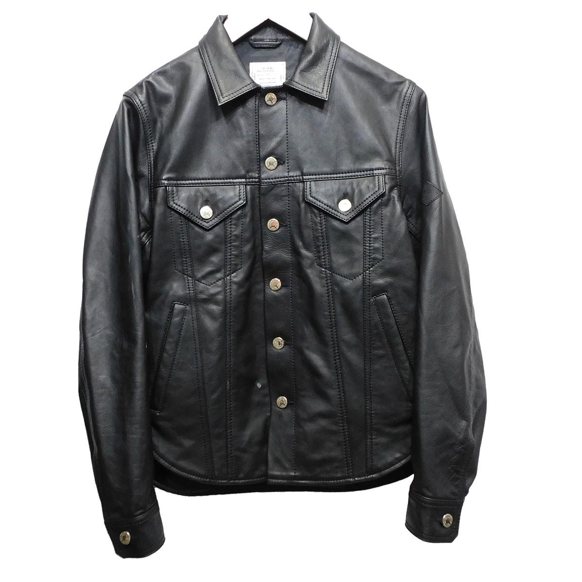 【中古】CRIMIE 「LEATHER BORN FREE SHIRT JACKET」 レザージャケット ブラック サイズ:S 【260620】(クライミー)