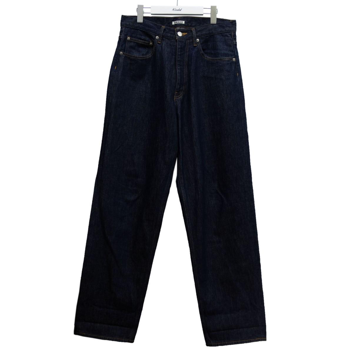 【中古】AURALEE 19SS「HARD TWIST DENIM WIDE PANTS」デニムパンツ インディゴ サイズ:30 【260620】(オーラリー)