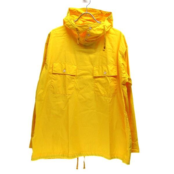 【中古】Engineered Garments Cagoule Shirt ポプリン プルオーバー フード アノラック プルオーバーシャツ イエロー サイズ:M 【270620】(エンジニアードガーメンツ)