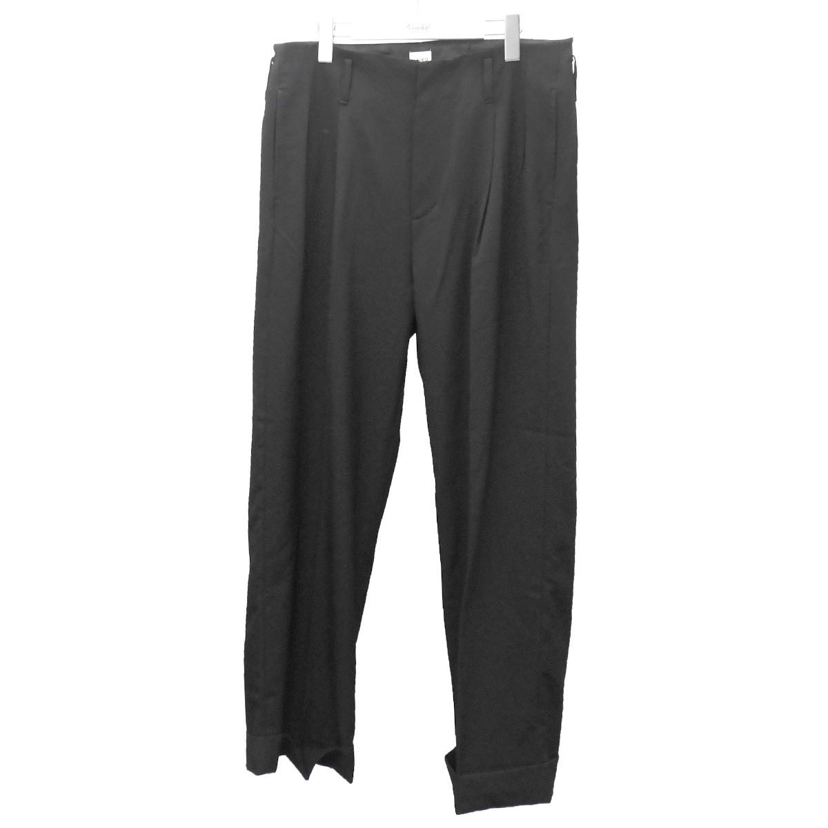 【中古】KAIKO 2019AW 「WIDE SLACKS」ワイドスラックスパンツ ブラック サイズ:2 【290620】(カイコー)