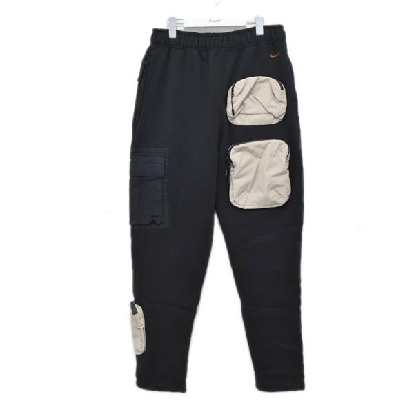 【中古】NIKE ×TRAVIS SCOTT 20SS UTILITY SWEAT PANT スウェットパンツ ブラック サイズ:L 【290620】(ナイキ)