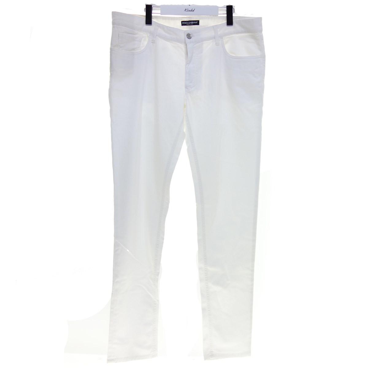 【中古】DOLCE&GABBANA コットンパンツ ホワイト サイズ:54 【290620】(ドルチェアンドガッバーナ)