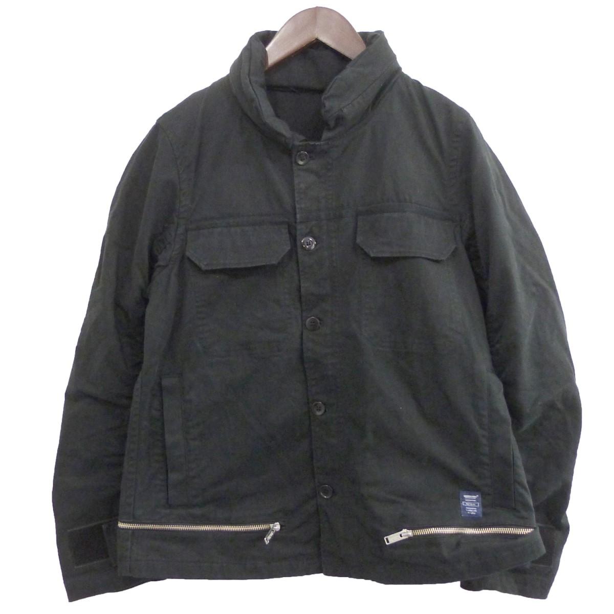 【中古】UNDER COVER 17SS 隠しフード裾ZIPブルゾン ブラック サイズ:2 【290620】(アンダーカバー)