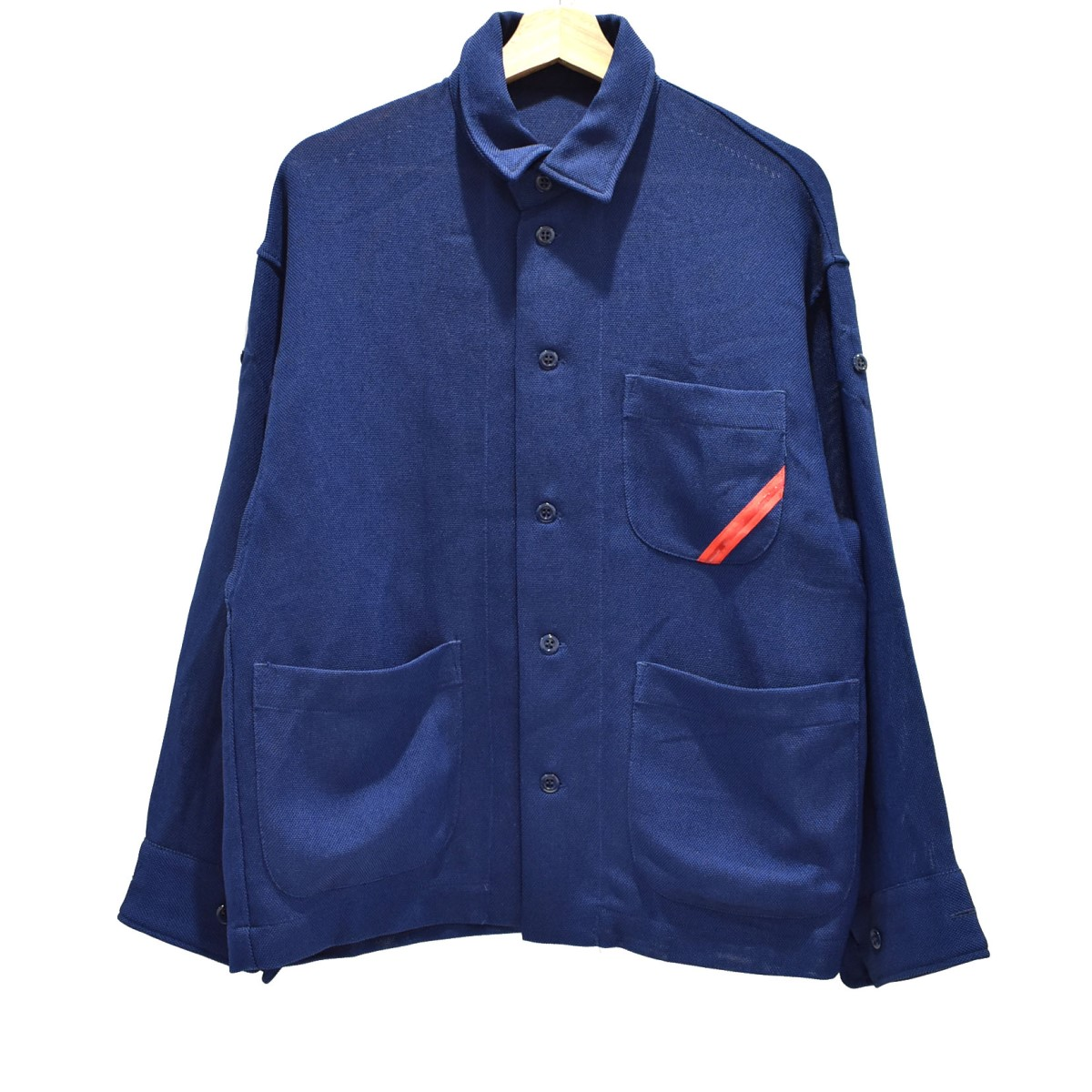 【中古】phingerin 19SS COVER SHIRT JKT シャツジャケット ネイビー サイズ:S 【300620】(フィンガリン)