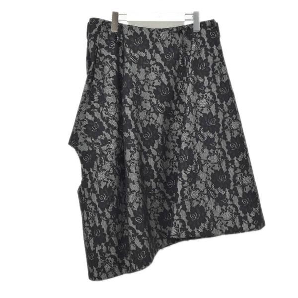 【中古】COMME des GARCONS HOMME PLUS 20SS フラワーレース スカート ブラック サイズ:S 【010720】(コムデギャルソンオムプリュス)