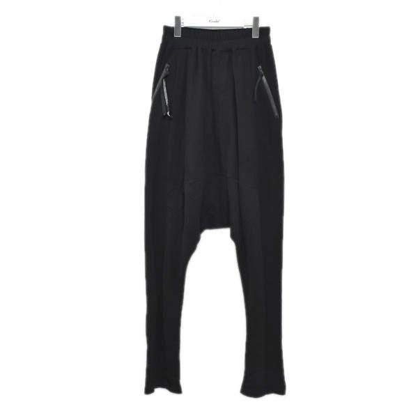 【中古】NILoS 18SS GEOMETRIC CROTCH PANTS クロッチパンツ ブラック サイズ:2 【010720】(ニルズ)