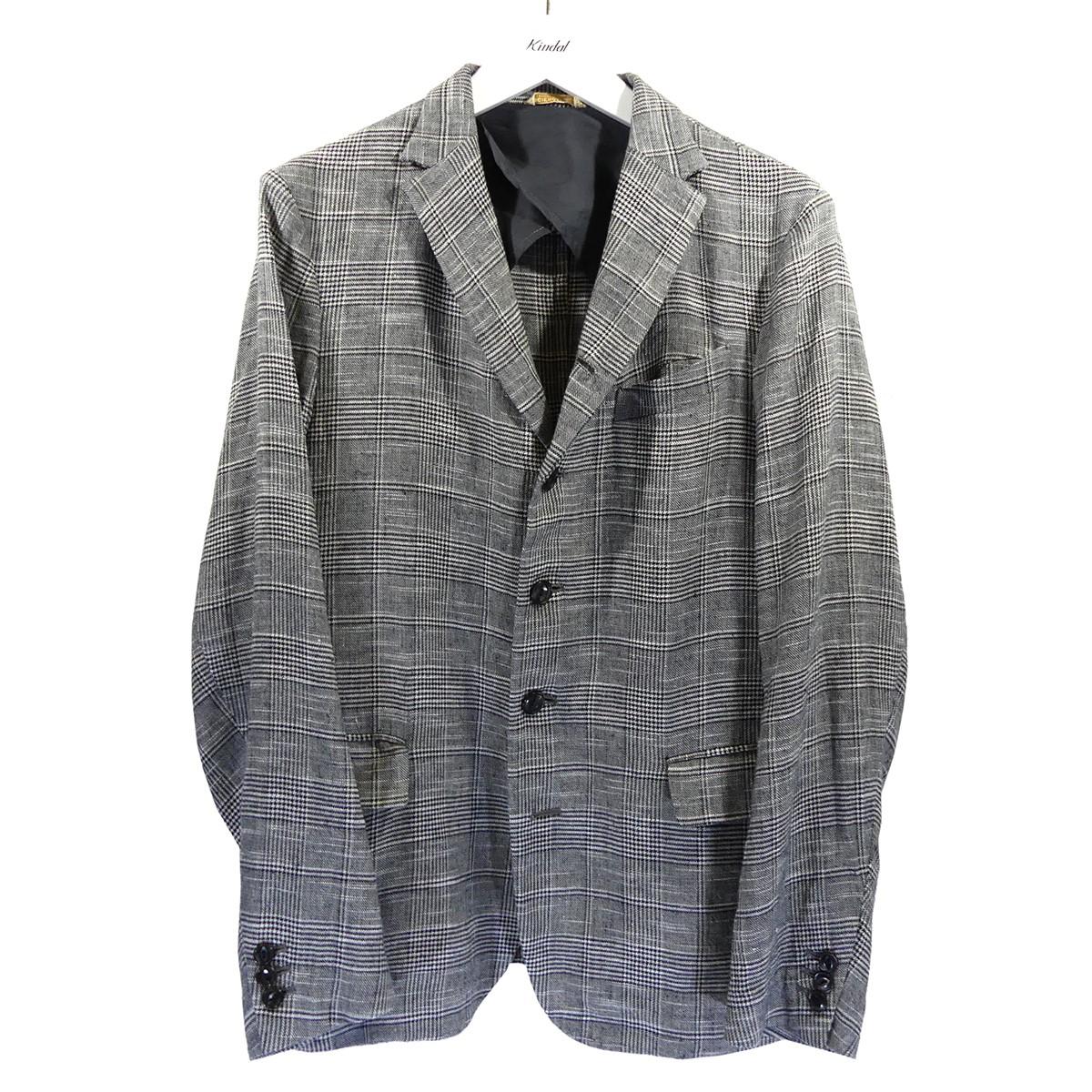 【中古】ARTS&SCIENCE リネンチェックジャケット グレー サイズ:2 【010720】(アーツアンドサイエンス)